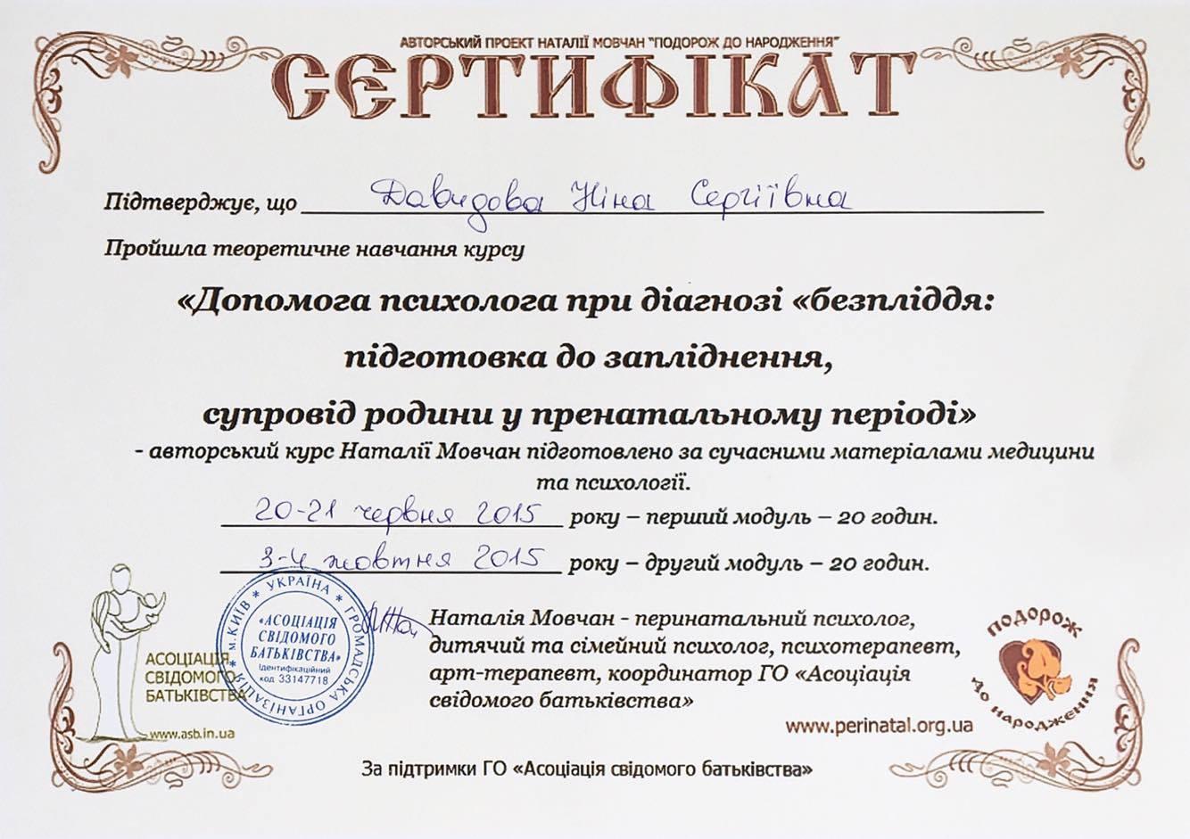 Нина Давыдова психолог