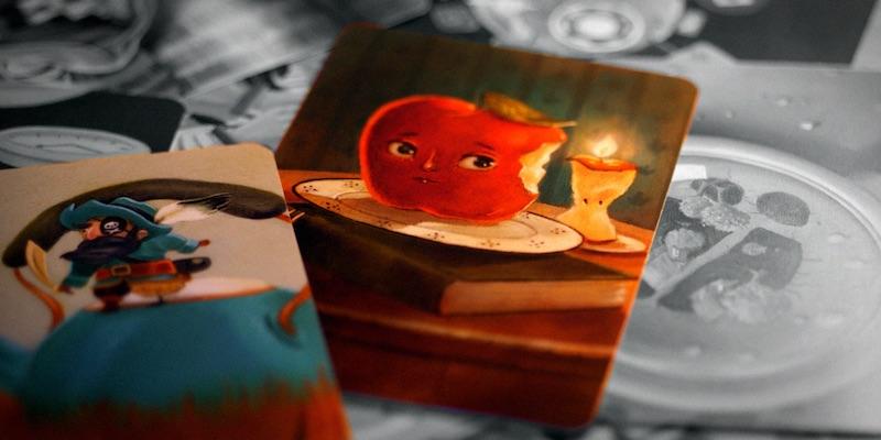 Яблоко, карты диксит.
