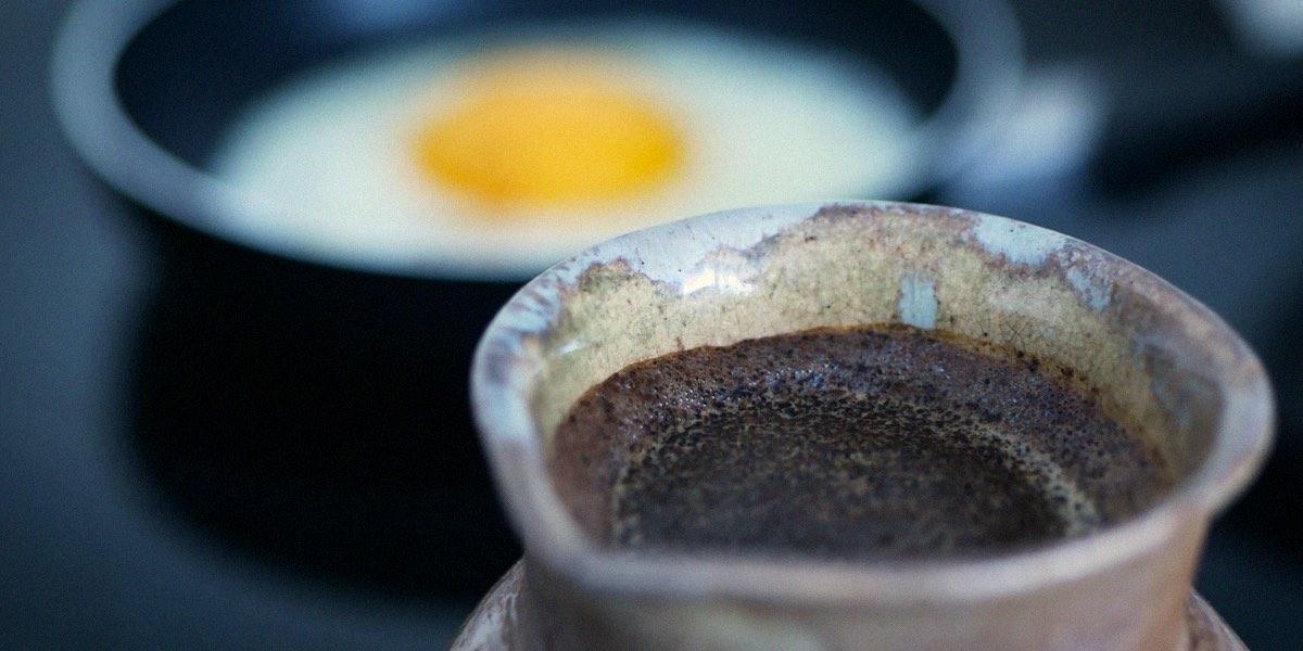 Кофе и яйцо