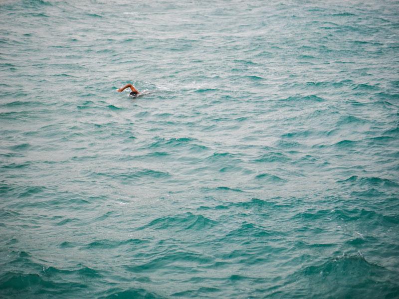 Плавец, вода