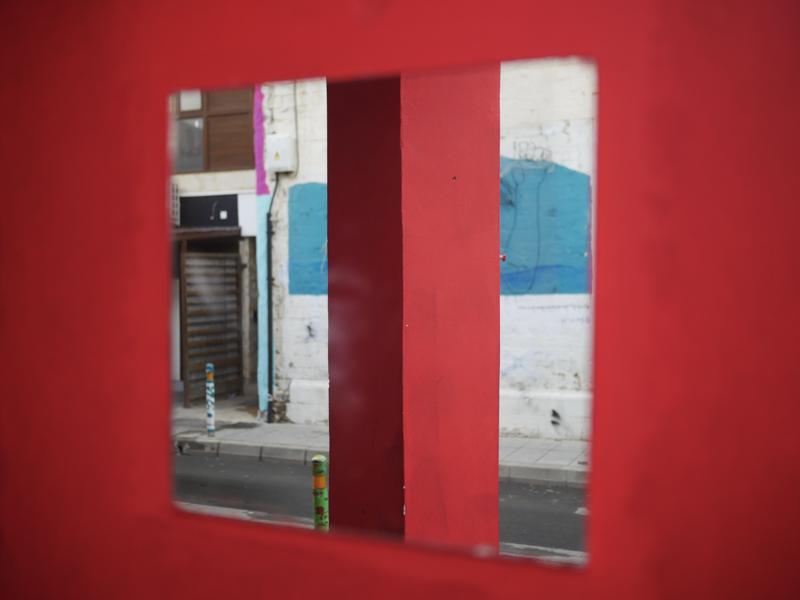 Красное окно